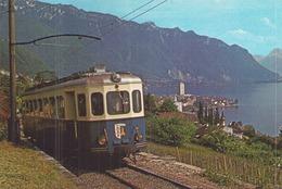 AUTOMOTRICE BE 4/4 1001 CHEMIN DE FER MONTREUX OBERLAND BERNOIS - Trains
