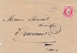 ENV 80 C Rose Obl Pc 332 Signée Calves TB. - 1853-1860 Napoléon III