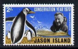 150512 Cinderella - Jason Island (Falkland Islands) 1970 Conservation Year 2s Unmounted Mint - Penguins