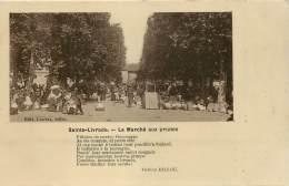 CARTE PHOTO - SAINTE LIVRADE - LE MARCHE AUX PRUNES - France