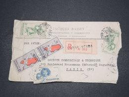 MADAGASCAR - Enveloppe Commerciale En Recommandé De Fiamarantsoa Pour Paris - L 16515 - Madagascar (1889-1960)