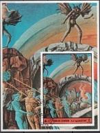 Umm Al Qiwain 1972 Mi. 897 Dante Alighieri - Divina Commedia Inferno Canto XXI Barattieri M. Bottaio - Scrittori