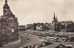 ROUBAIX: CPSM P.F. DE 1957.GRANDE PLACE.ANIMEE BUS ET VOITURES.B.ETAT.PETIT PRIX COMPAREZ!!! - Roubaix