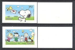 Deutschland / Germany / Allemagne 2018 3371/72 ** PEANUTS - Snoopy Selbstklebend (01.03.18) Weisse Rückseite - [7] Repubblica Federale