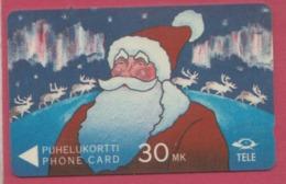FINLANDE--Télécarte Magnetique 30 MK--Père Noel - Finlande