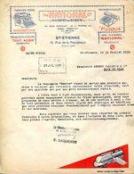 """42.SAINT ETIENNE.MACHINES A ECRIRE """" WOODSTOCK """".MACHINES A CALCULER """"MONROE """" THE NATIONAL CO. - Imprimerie & Papeterie"""