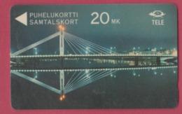 FINLANDE--Télécarte Magnetique 20 MK Pont - Finlande