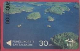 FINLANDE--Télécarte Magnetique 30 MK--Iles - Finlande