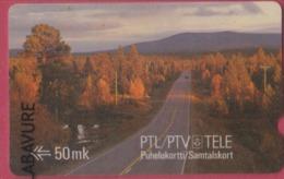 FINLANDE--Télécarte Magnetique--50 MK---PTL/ PTV/ Tele - Finlande