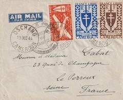 Cameroun Lettre De Dschang Pour La France Du 19 12 1944 - Camerún (1915-1959)