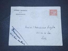FRANCE - Enveloppe Du Conseil National De La Résistance De Paris Pour Paris ( Ambassadeur ) En 1944 - L 16528 - Marcophilie (Lettres)