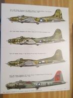DEC514 Planche Couleur ESCI Années 70/80 :   39/45 US AIR FORCE B-17 FLYING FORTRESS , Accompagnait Des Planches Additio - Airplanes