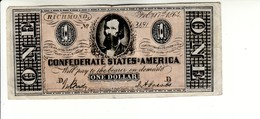Billet De La Confédération, 1 Dollar 1864 (imitation) - Valuta Van De Bondsstaat (1861-1864)