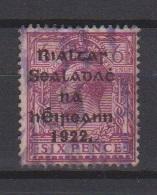 Irlande / N 9  /  6 P Lilas / Oblitéré - 1922-37 État Libre D'Irlande