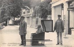 88-PLOMBIERES-LES-BAINS- CHAISE A PORTEURS - Plombieres Les Bains