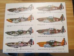 DEC514 Planche Couleur ESCI Années 70/80 :   39/45 ARMEE DE L'AIR MS406 Et DE520   , Accompagnait Des Planches Additionn - Airplanes