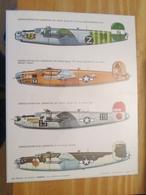 DEC514 Planche Couleur ESCI Années 70/80 :   39/45 US AIR FORCE B-24 LIBERATOR   , Accompagnait Des Planches Additionnel - Airplanes