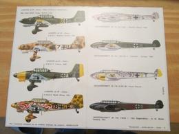 DEC514 Planche Couleur ESCI Années 70/80 :   39/45 LUFTWAFFE JU87 STUKA Et ME110 ZERSTÖRER   , Accompagnait Des Planches - Airplanes