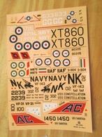 DEC514 Planche De Décals 1/72e Additionnels ESCI Années 70/80 : MDD F-4 PHANTOM  ,  Planche Complète à 100% Permet De Ré - Airplanes