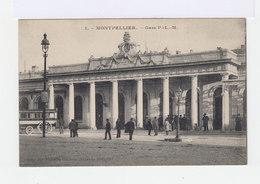 Montpellier. Gare P.L.M. Avec Ancien Omnibus. (2769) - Gares - Sans Trains