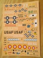DEC514 Planche De Décals 1/72e Additionnels ESCI Années 70/80 : F-105 THUNDERCHIEF  ,  Planche Complète à 100% Permet De - Airplanes