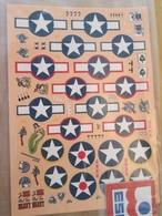 DEC514 Planche De Décals 1/72e Additionnels ESCI Années 70/80 : DECALS USAF 39/45 MARQUAGES NATIONAUX ET DE MISSIONS ET - Airplanes