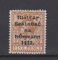 Irlande / N 8b  / 5 P Brun Jaune / NEUF Avec Trace De Charnière - 1922-37 Stato Libero D'Irlanda