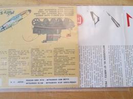 """DEC514 Planche Couleur ESCI Années 70/80 :   39/45 AVIATION JAPONAISE """"Maudites Faces De Prunes , Vous Allez Le Payer Au - Airplanes"""