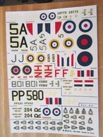 DEC514 Planche Couleur ESCI Années 70/80 :   39/45 ROYAL NAVY FAIREY SWORDFISH ET FIREFLY , Complète à 100% , Permet De - Airplanes