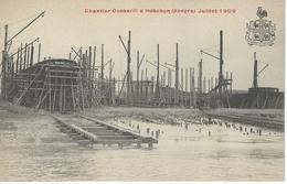 HOBOKEN - ANVERS Chantier Cockerill - Juillet 1909 - RARE VARIANTE - Antwerpen