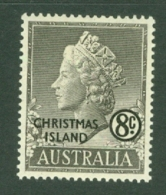Christmas Is: 1958   QE II 'Christmas Island' OVPT    SG5   8c   MH - Christmas Island