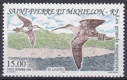 St. Pierre Und Miquelon 1996 Tiere Fauna Animals Vögel Birds Oiseaux Pajaro Uccelli Brachvogel Curlew, Mi. 711 ** - St.Pierre & Miquelon