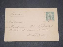 INDOCHINE - Entier Postal De Vinh Pour Chartres En 1901 - L 16542 - Indochina (1889-1945)