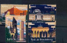 France 3810 3813 2005 Berlin Capitales Du Bloc 88  Neuf ** TB MNH Faciale 2.12 - France
