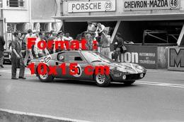 Reproduction D'une Photographie De La Ligier JS1 N°50 Aux 24H Du Mans De 1970 - Repro's