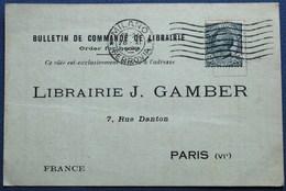 Carte Commerciale MILAN Pour PARIS. - 1900-44 Vittorio Emanuele III