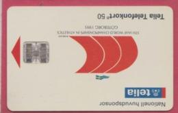 SUEDE--Telefonkort 50 --Huvudsponsor--Championschips In Atthletics Goteborg 1995 - Suède