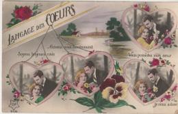 LANGAGE DES FLEURS - Langage Des Coeurs - Couple D'amoureux - Pensées - Village - Rivière - Amour - Fantaisies