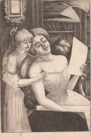 FANTAISIE - Femme - Mère Et Sa Fille -  Gravure - Carton à Dessins - TBE - Fantasia