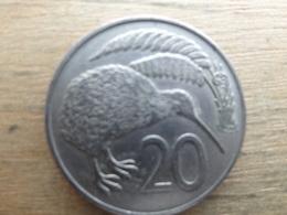 New-zealand  20  Cents  1967  Km 36 - Nouvelle-Zélande