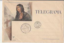 6345FM- WOMAN PRAYING TELEGRAMME COVER, TELEGRAPH, NAGYVARAD VISSZATERT-ORADEA IS BACK SPECIAL POSTMARK, 1940, HUNGARY - Télégraphes