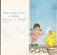 6358FM- GIRL, CHICK, CLOVER, TELEGRAMME, 1981, ROMANIA - Télégraphes