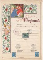 6405FM- JESUS' BIRTH, CHRISTMAS, ANGELS, SZATMARNEMETI VISSZATERT SPECIAL POSTMARK, TELEGRAMME, 1940, HUNGARY - Christmas