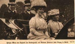 Königin Mary Von England Mit Madame Boincaré  / Druck, Entnommen Aus Zeitschrift / 1914 - Livres, BD, Revues