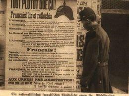"""Ein Nationalistisches Französisches Wahlplakat Gegen Die """"Pickelhaube""""   / Druck, Entnommen Aus Zeitschrift / 1914 - Packages"""