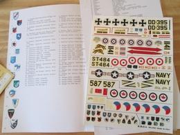 DEC514 Planche Couleur ESCI Années 70/80 :   39/45 T-33 SHOOTING STAR , Complète à 100% , Permets De Réaliser  6 Décos E - Airplanes