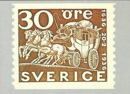Sweden -  Postal Coach On Stamp On Postcard.   # 07488 - Postal Services