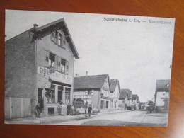 Schiltigheim Rustengesse , Restaurant A La Poste, Carton Publicitaire - Schiltigheim