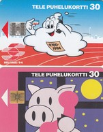 11946 - N°. 2 SCHEDE TELEFONICHE - FINLANDIA 1994 - USATE - Finlandia
