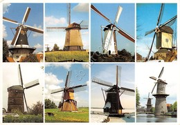 Cartolina Holland Different Types Of Windmills Mulini - Non Classificati